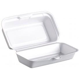 Envase Foam HotDog Blanco 180x100x60mm (125 Uds)