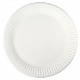 Plato de Papel Blanco Ø18,5 cm (100 Uds)