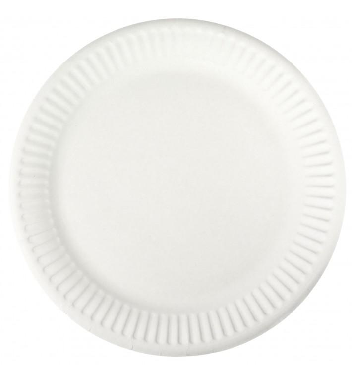 Plato de Papel Blanco Ø18,5 cm (1000 Uds)