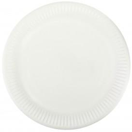 Plato de Papel Blanco Ø23 cm (50 Uds)