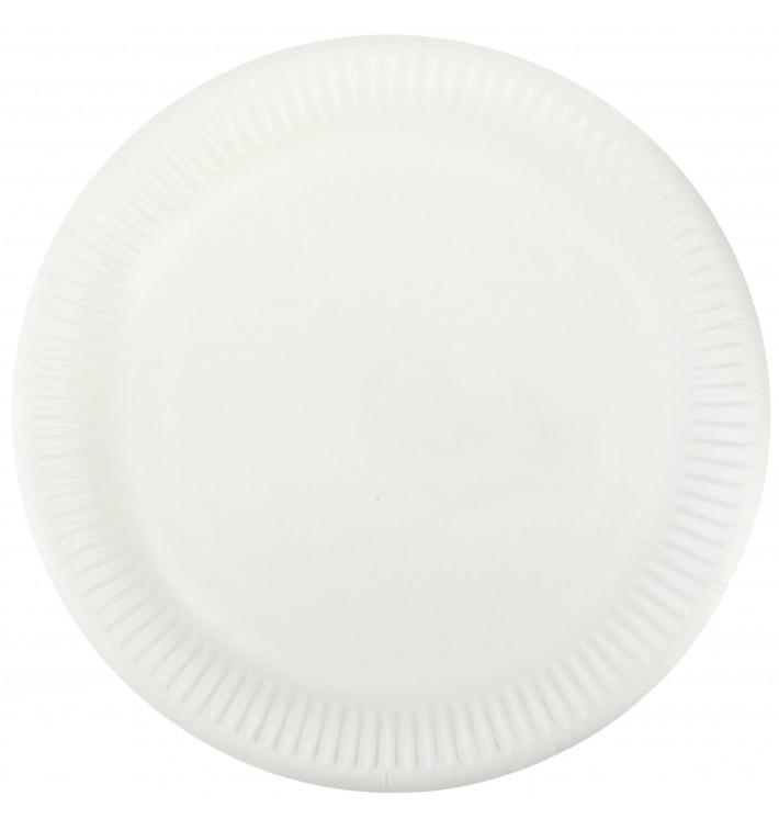 Plato de Papel Blanco Ø23 cm (1000 Uds)