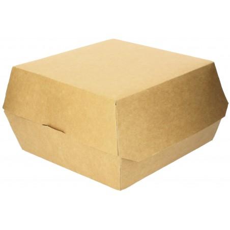 Caja Kraft para Hamburguesa Mega 14x14x4,5 cm (250 Uds)