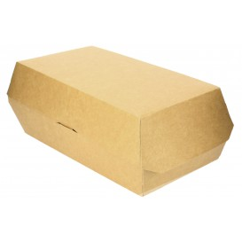 Envase para Bocadillo Kraft 20x10x4cm (250 Uds)