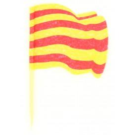 """Pinchos Banderita """"Cataluña"""" 65mm (14.400 Uds)"""