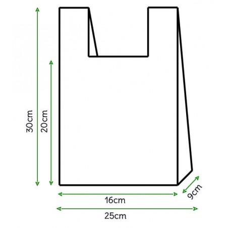 Bolsa Plastico Camiseta 25x30cm Blanca (8000 Unidades)
