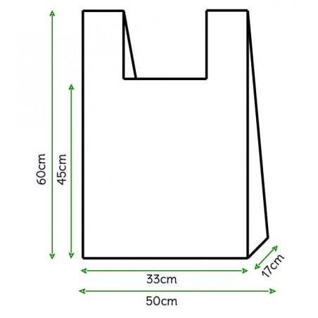 Bolsa Plastico Camiseta 50x60cm Blanca (100 Unidades)
