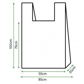 Bolsa Plastico Camiseta 85x100cm Blanca (500 Unidades)