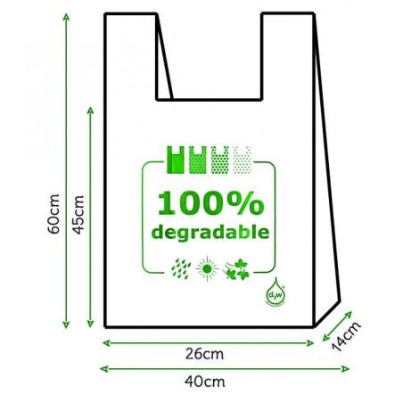 Bolsa Plastico Camiseta 100% Degradable 40x60cm (200 Uds)