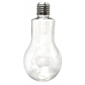 Botella Bombilla Transparente PET 400ml (25 Uds)
