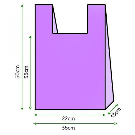 Bolsa Plastico Camiseta 35x50cm Lila (200 Unidades)