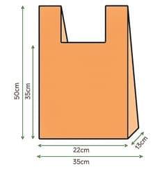 Bolsa Plastico Camiseta 35x50cm Naranja (200 Unidades)