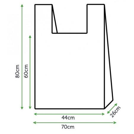 Bolsa Plastico Camiseta 70x80cm Blanca (800 Unidades)
