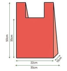 Bolsa Plastico Camiseta 35x50cm Roja (200 Unidades)