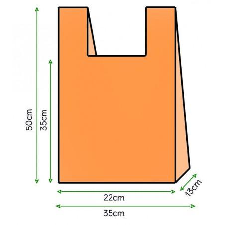 Bolsa Plastico Camiseta 35x50cm Naranja (5000 Unidades)