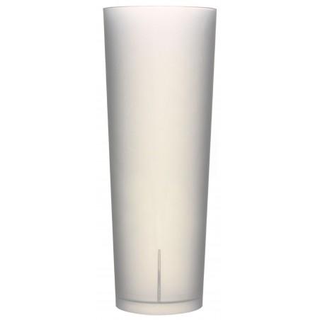 "Vaso de Tubo Reutilizable PP ""Frost"" 330ml (10 Uds)"