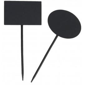 Pinchos de Bambu Pizarra Oval 8x6x18cm (5 Ud)