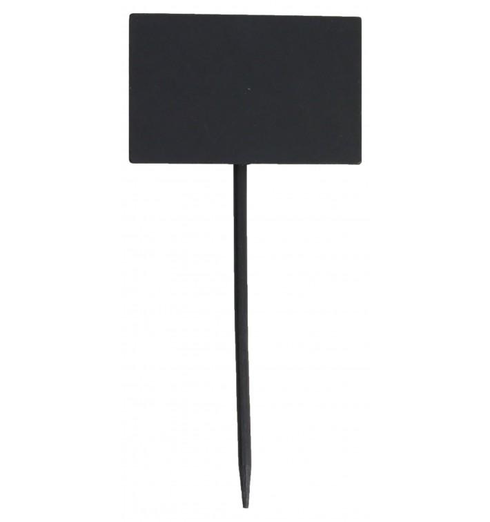 Pinchos de Bambu Pizarra Rectangular 8x5,4x18cm (120 Uds)