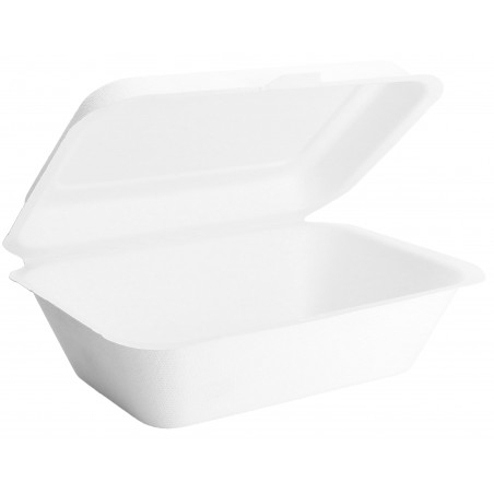 Envase MenuBox Caña Azúcar Blanco 180x125x70cm (50 Uds)