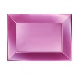 Bandeja Plastico Rosa Nice Pearl PP 280x190mm (12 Uds)