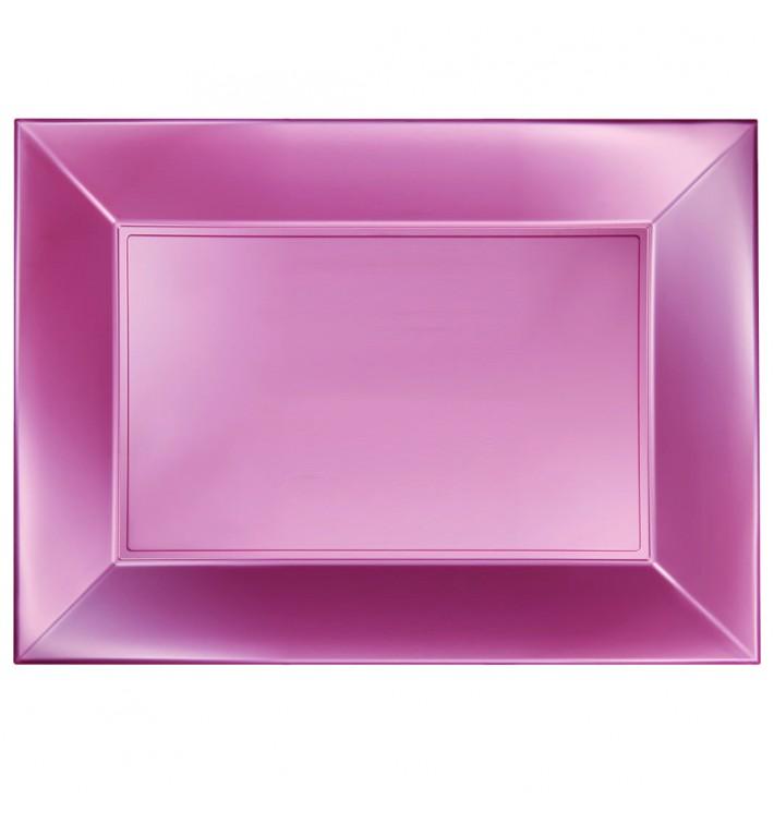 Bandeja Plastico Rosa Nice Pearl PP 345x230mm (60 Uds)