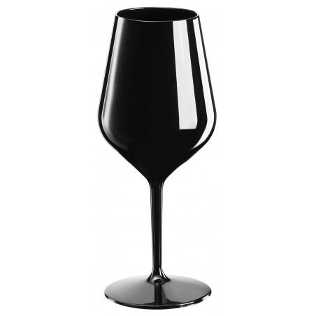 Copa Reutilizable para Vino Tritan Negro 470ml (1 Ud)