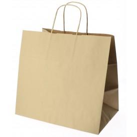 Bolsa Papel Kraft Marron con Asas 100g 27+14x26 cm (200 Uds)