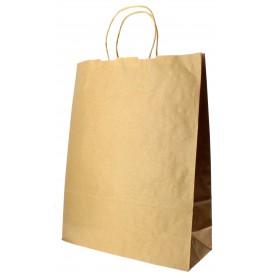 Bolsa Papel Kraft con Asas 100g 32+12x41 cm (50 Uds)