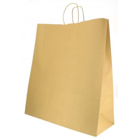 Bolsa Papel Kraft Hawanna con Asas 100g 46+16x49 cm (50 Uds)