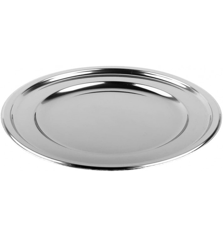 Bajoplato de Plastico Catering Redondo Plata 30 cm (5 Uds)