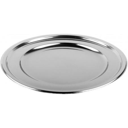 Bajoplato Reutilizable PET Redondo Plata 30 cm (5 Uds)