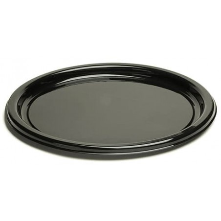 Plato de Plastico Redondo Negro 18 cm (250 Uds)