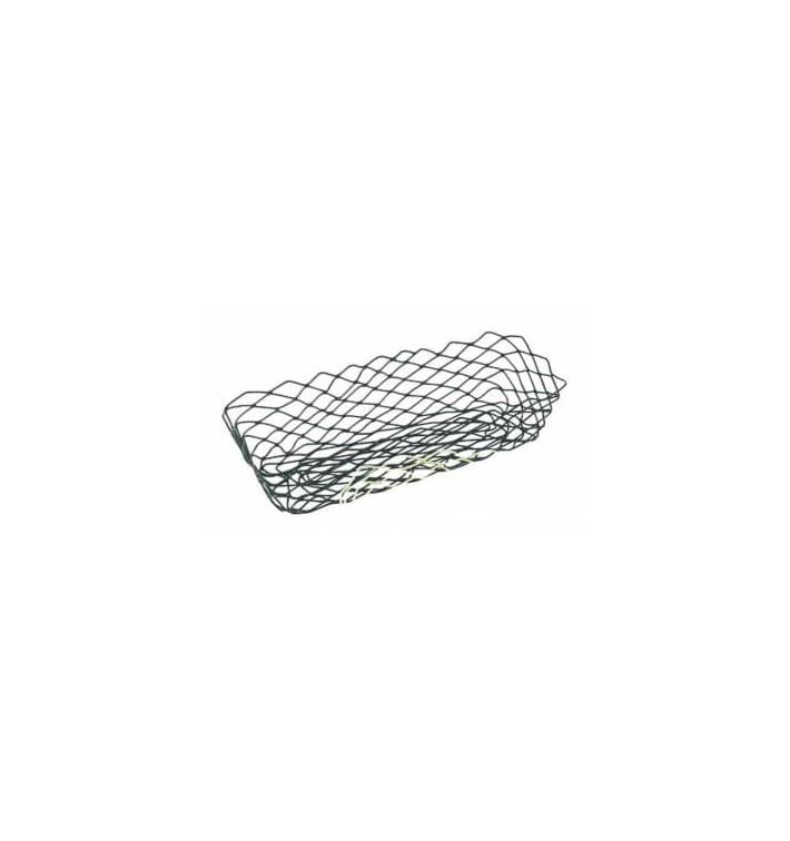 Cesta Rectangular de Acero Negro 275x142x85mm (6 Uds)