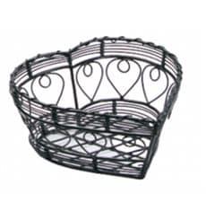 Cesta Corazón de Acero Negro 180x180x90mm (6 Uds)