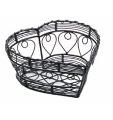 Cesta Corazón de Acero Negro 180x180x90mm (1 Ud)