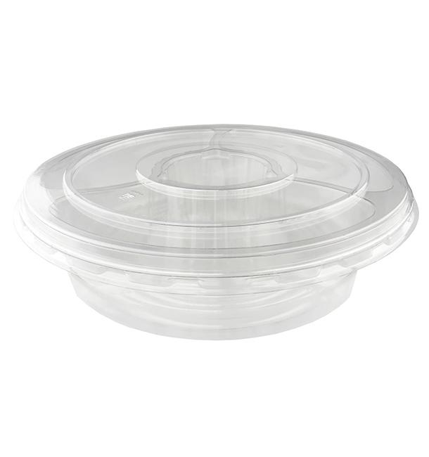 Bol Plástico PET 5C con tapa Ø26x7cm (100 Uds)