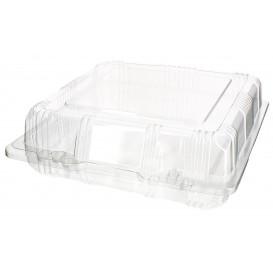 Envase Tapa Bisagra para Respotería PET 18x18x6cm (220 Uds)
