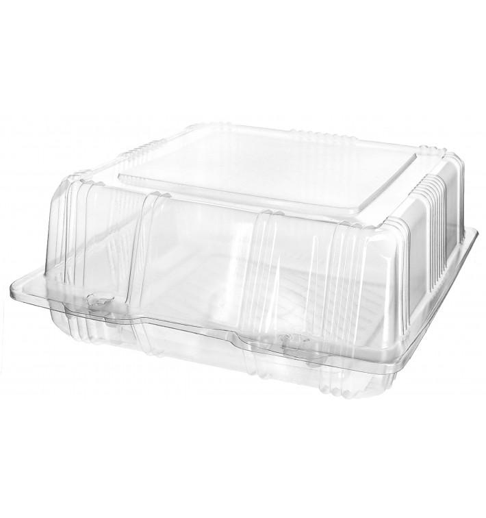 Envase Tapa Bisagra Repostería PET 18x18x8cm (20 Uds)
