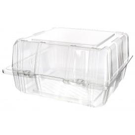 Envase Tapa Bisagra para Respotería PET 18x18x10cm (20 Uds)