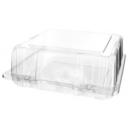 Envase Tapa Bisagra para Respotería PET 20x20x8cm (220 Uds)