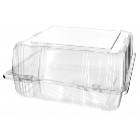 Envase Tapa Bisagra Repostería PET 20x20x10cm (220 Uds)