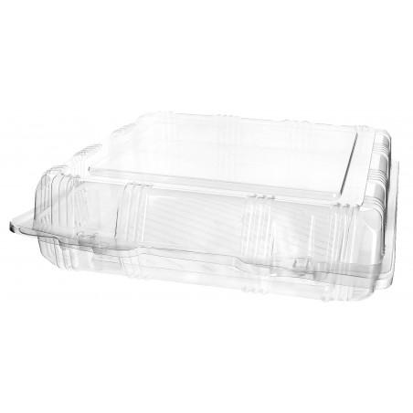 Envase Tapa Bisagra para Respotería PET 22x22x6cm (20 Uds)