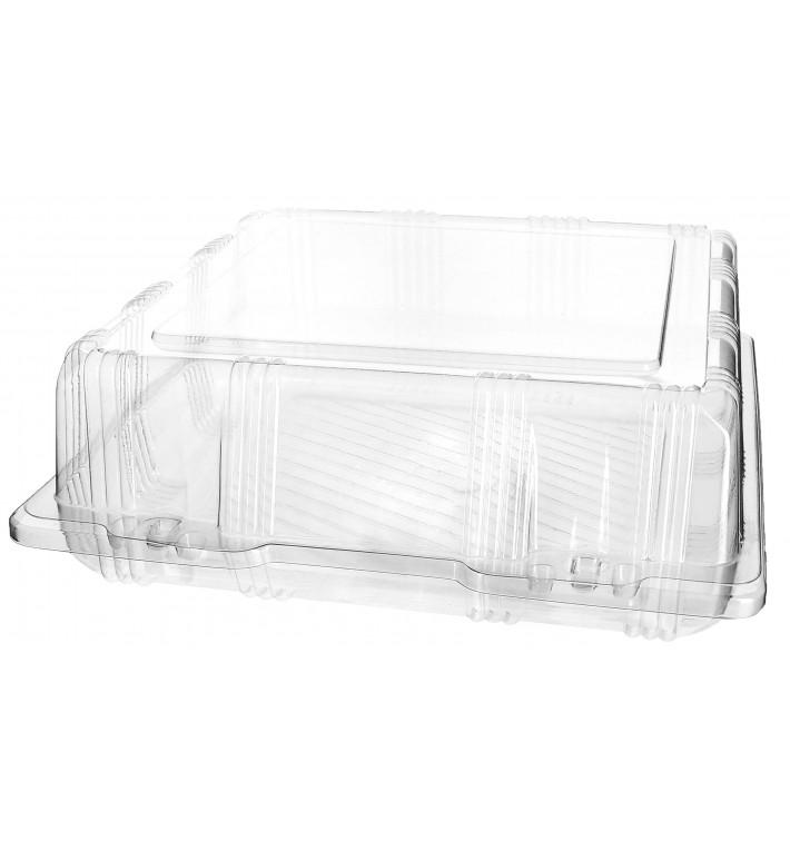 Envase Tapa Bisagra Repostería PET 22x22x8cm (220 Uds)
