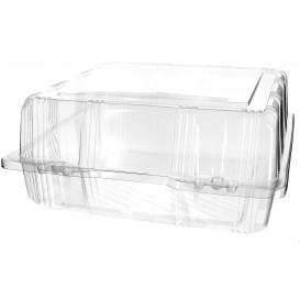Envase Tapa Bisagra Repostería PET 22x22x10cm (220 Uds)