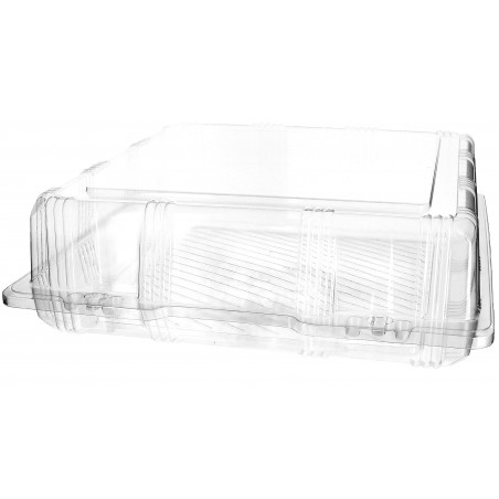Envase Tapa Bisagra para Respotería PET 25x25x8cm (20 Uds)