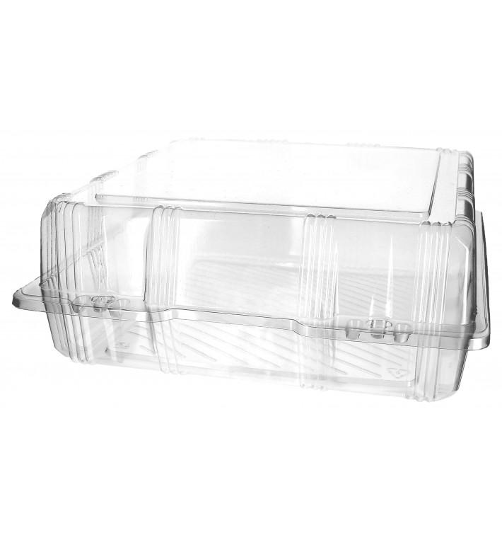 Envase Tapa Bisagra Repostería PET 25x25x10cm (20 Uds)
