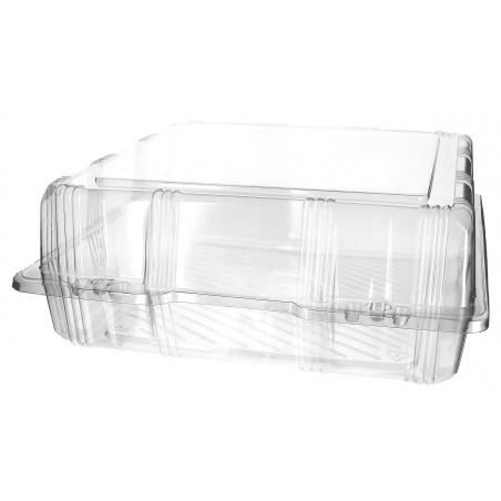 Envase Tapa Bisagra para Respotería PET 25x25x10cm (220 Uds)