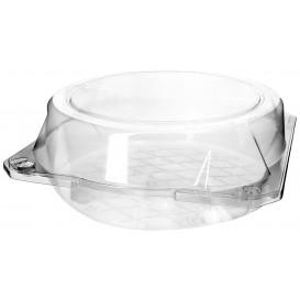 Envase Tapa Bisagra Repostería PET Ø20x8cm (23 Uds)
