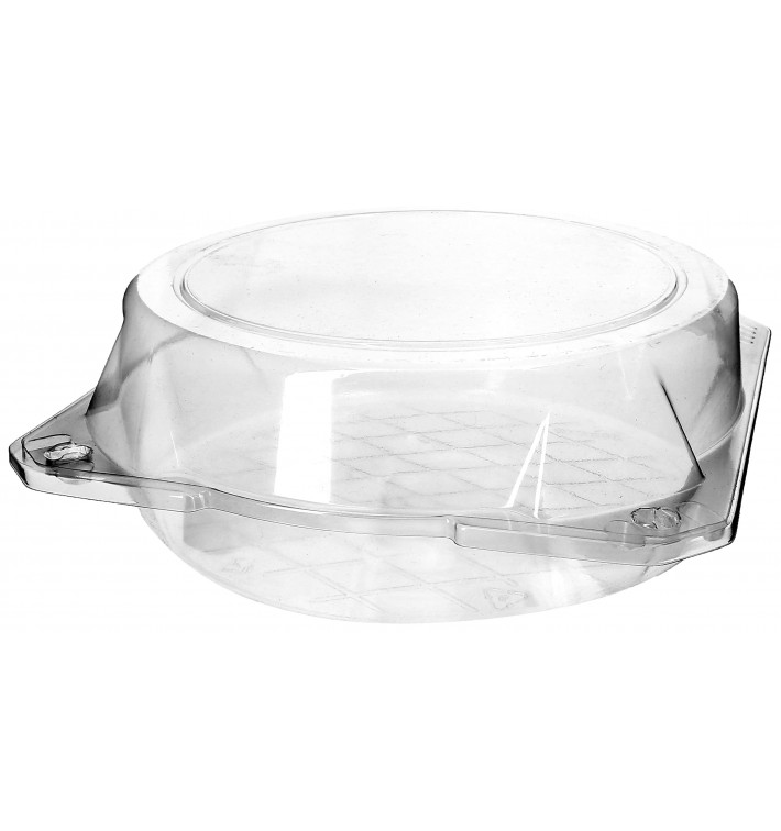 Envase Tapa Bisagra Repostería PET Ø20x8cm (115 Uds)