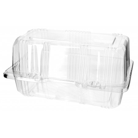 Envase Tapa Bisagra para Respotería PET 18x9,5x10cm (220 Uds)