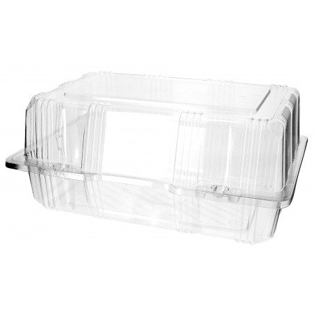 Envase Tapa Bisagra para Respotería PET 22x14,5x10cm (20 Uds)